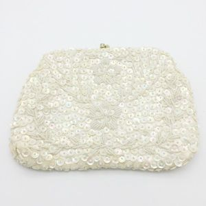 Vintage Sequin & Beaded Clutch